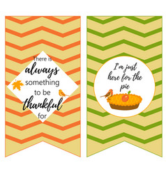 thanksgiving backgrounds with quote holiday pie vector image