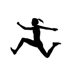 triple jump woman athlete vector image