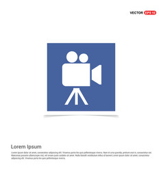 video camera icon - blue photo frame vector image