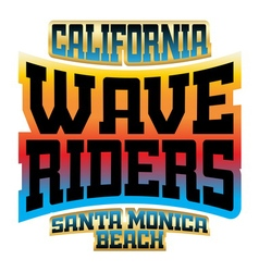 Wave riders t shirt typography graphics logo vector image