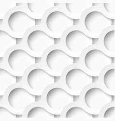 White circles with drop shadows vector image