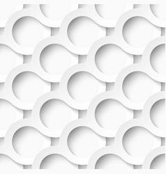 White circles with drop shadows vector image vector image