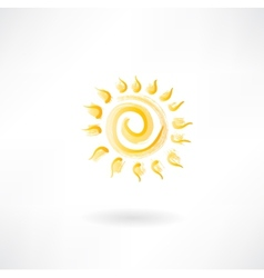 Yellow sun vector image