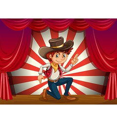 Cowboy on Stage vector image vector image