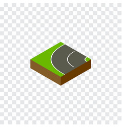 Isolated bitumen isometric way element can vector