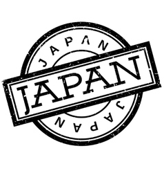 Japan rubber stamp vector image