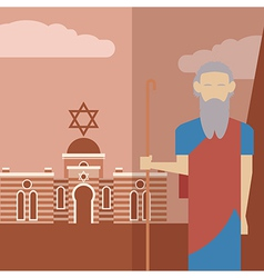 Moses icon 2 vector