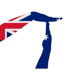 Australian timeout vector image