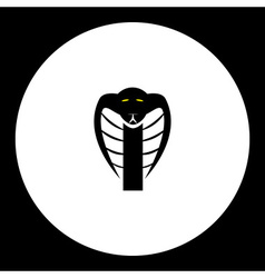black cobra snake head simple isolated icon eps10 vector image vector image