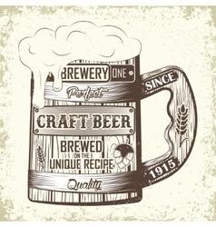 Craft beer emblem vector image