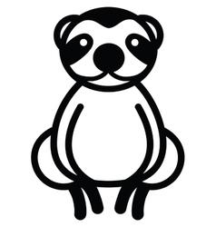Cute animal sloth - vector image vector image