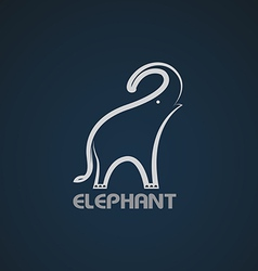 image of an elephant design vector image vector image