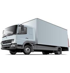 Light commercial truck vector image