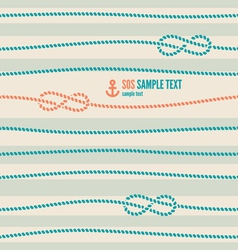 nautical knot pattern vector image