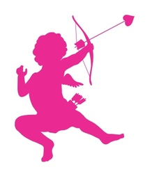 Cupid silhouette vector image vector image