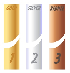 Gold Silver Bronze Labels vector image vector image
