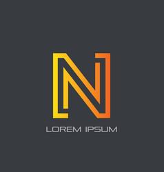 letter n business sign logo vector image