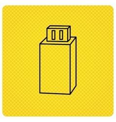 USB drive icon Flash stick sign vector image