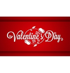 Valentines Day Lettering Banner Background vector image