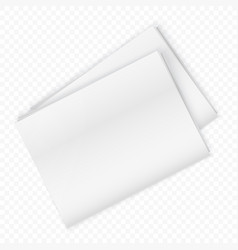 blank newspaper mockup isolated on the transperant vector image