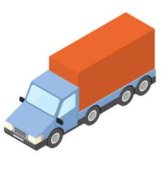 box truck isometric vector image