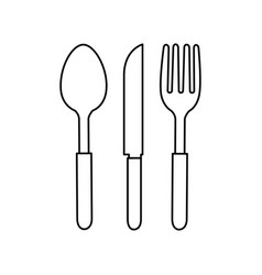 fork knife and spoon icon vector image