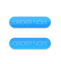 Order now button for web blue on white vector