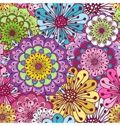 Seamless floral vivid pattern vector image vector image