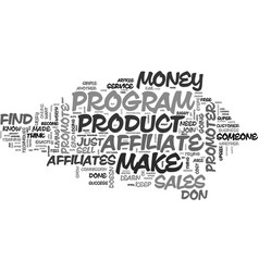 why of the affiliates make of the sales text word vector image vector image