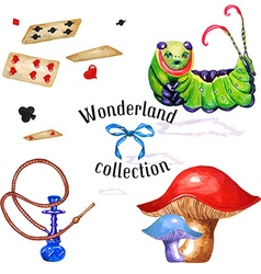 Wonderland set vector image