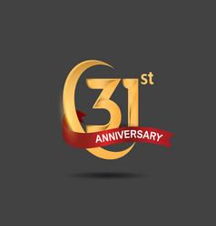 31 anniversary design logotype golden color vector