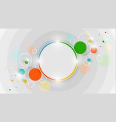 Abstract colorful circles design vector