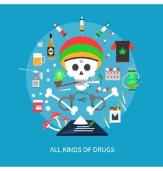 All kinds of drugs concept vector