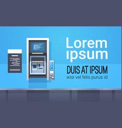 atm cash automatic teller machine payment terminal vector image