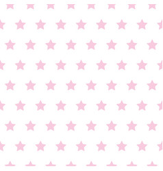 Baby star pattern pink on white vector