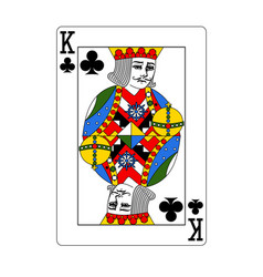 Beautiful card king clubs in classi vector