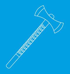 Big axe icon outline style vector