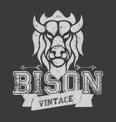 Bison logo vector