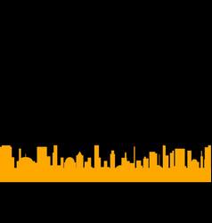 black background cityscape vector image