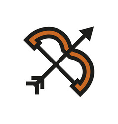 bow and arrow icon on white background vector image