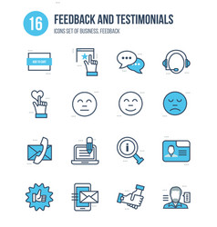business feedback and testimonials vote liked vector image