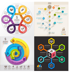 business infographic template set vector image