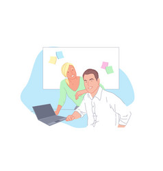 business project development staff cooperation vector image