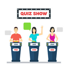 cartoon people quiz game show concept vector image