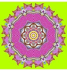 Circular decorative geometric pattern for yoga vector