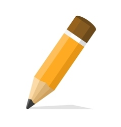 Classic Pencil Flat Style Design Icon vector image