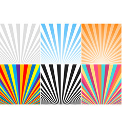 collection of abstract colorful striped vector image