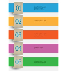 Colored paper numbered banners vector