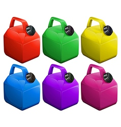 Colorful gas containers vector image