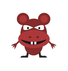 cute red mouse vector image